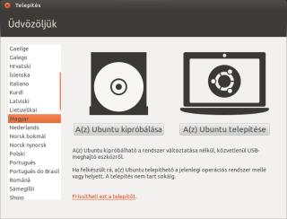 Az Ubuntu kipróbálása