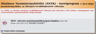 ÁNYK - AbevJava nyomtatványkitöltő program telepítése